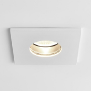 Obscura Fire Rated LED Square Bathroom/Shower Downlight in White IP65 - astro 1381008